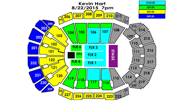 Kevin Hart Seating Chart